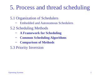 05-Process and thread scheduling