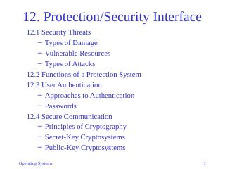 12-Protection/Security Interface