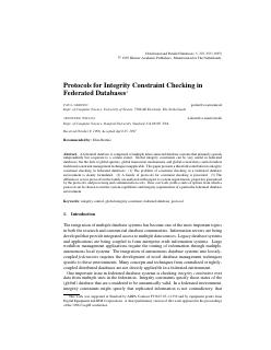 Protocols for Integrity Constraint Checking i...