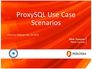 ProxySQL Use Case Scenarios