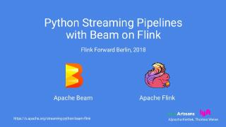 Python Streaming Pipelines with Beam on Flink