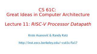 RISC-V处理器的数据通道