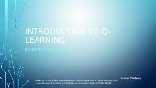 Reinforcement Learning Q-Learning