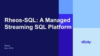 Rheos-SQL - Managed Streaming SQL Platform