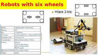 Robots with 6 wheels, complex, service