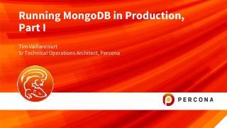 Running MongoDB in Production part 1