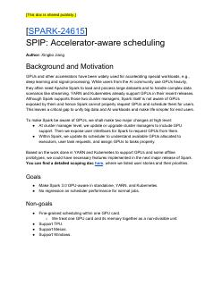 SPIP: Accelerator-aware scheduling
