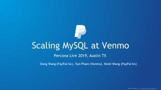 Scaling MySQL at Venmo