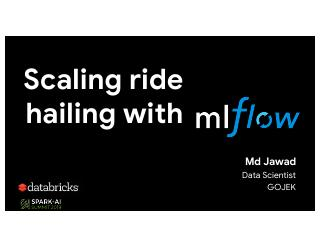 Scaling Ride-Hailing with Machine Learning on...