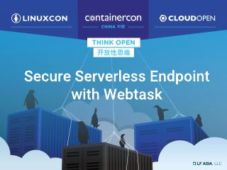 Securing Your Serverless Endpoint with Webtask