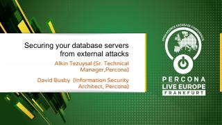 Securing your database servers from external ...