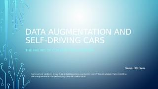 Self Driving Car Data Augmentation