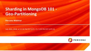Sharding in MongoDB 101 - Geo-Partitioning