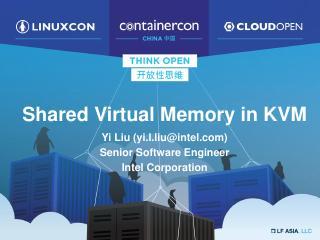 Shared Virtual Memory in KVM