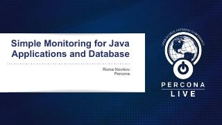 Simple Monitoring for Java Applications and D...