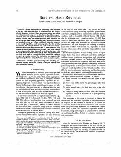 Sort vs. Hash Revisited