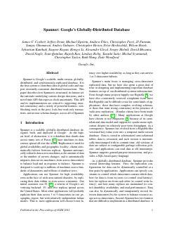 谷歌的全球分布式数据库