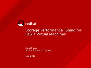 Storage Performance Tuning for FAST