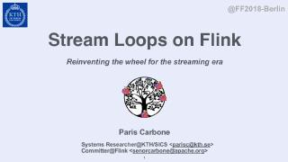 Stream Loops on Flink Reinventing the wheel f...