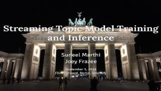 Streaming topic model training and inference ...