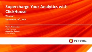 Supercharge Your Analytics with ClickHouse