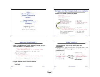同步:信号量,读取器/写入器