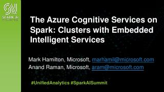 The Azure Cognitive Services on Spark: Cluste...