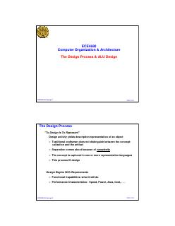 设计过程与ALU设计