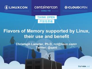 The Flavors of Memory Supported by Linux, the...
