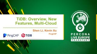 TiDB 2.1, MySQL Compatibility, and Multi-Clou...