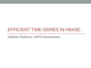 时序化HBase