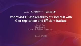 Improving HBase reliability at Pinterest