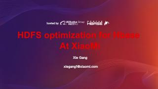 HDFS Optimization for HBase