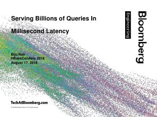 Serving Billions of Queries with milliseconds...