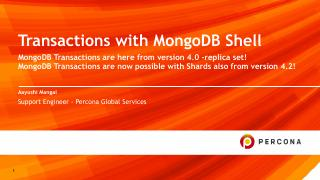Transactions With MongoDB Shell