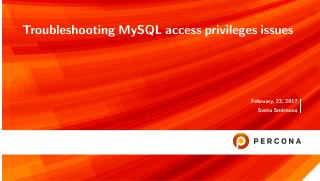Troubleshooting MySQL access privileges issues