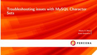 Troubleshooting issues with MySQL Character Sets
