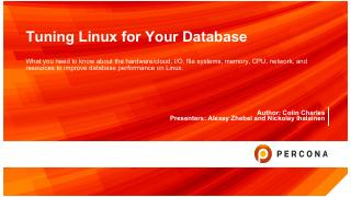 Tuning Linux for Your Database