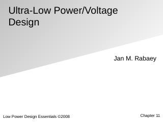 超低功率电压设计