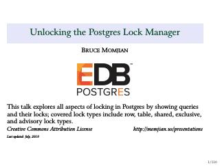 Unlocking the Postgres Lock Manager