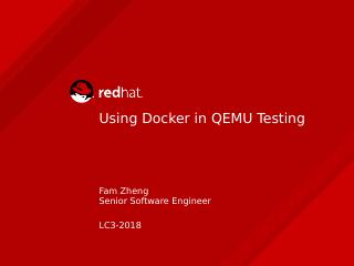 Using Docker in QEMU Testing