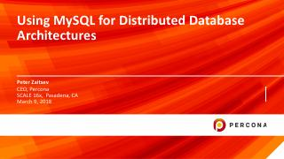 Using MySQL Distrivuted Database Architectures