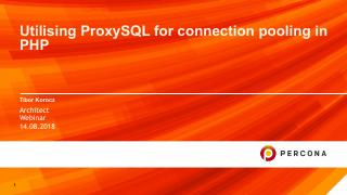 Utilising ProxySQL for connection pooling in PHP