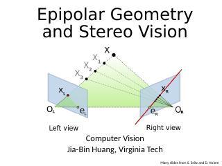 对极几何和立体视觉