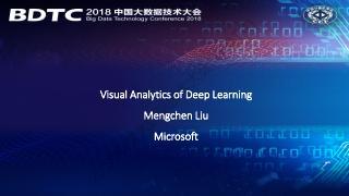 Visual Analyrtics of Deep Learning