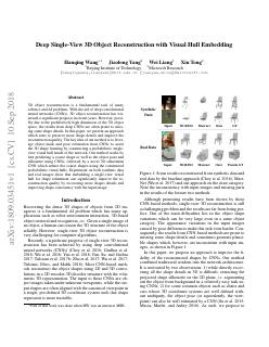 Deep Single-View 3D Object Reconstruction wit...