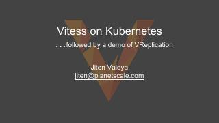 Vitess on Kubernetes