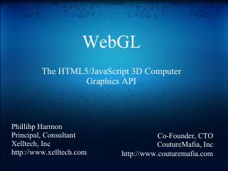WebGL Demos and Intro to Development