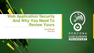 Web application security - why you should rev...