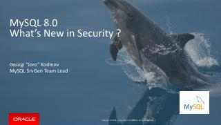 What's new in MySQL 8.0 security
